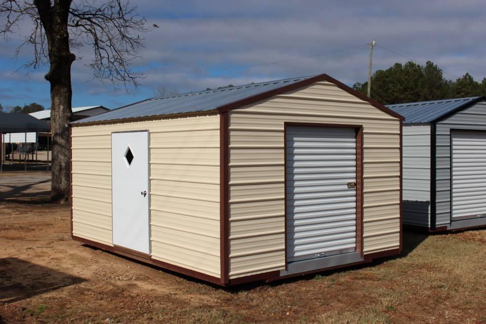 portable metal storage building